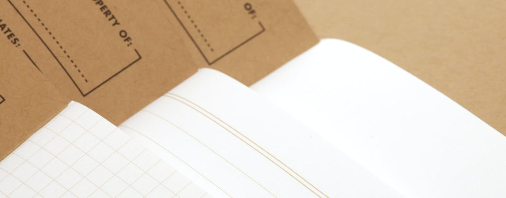 Tan Field Notes Graph Paper Notebook, Set of 3