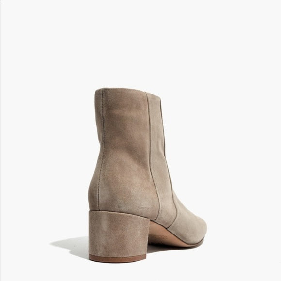 Madewell Jada Boot in Taupe Suede, 9.5
