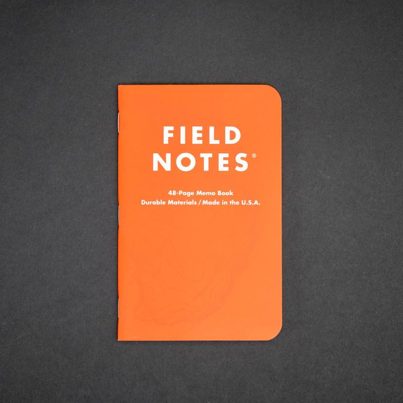 Antarctic Survey Orange Field Notes Notebook, Set of 3