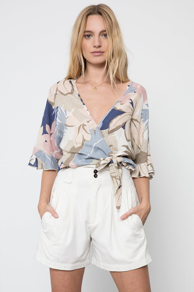 Rails Athena Wrap Top in Costa Print, M