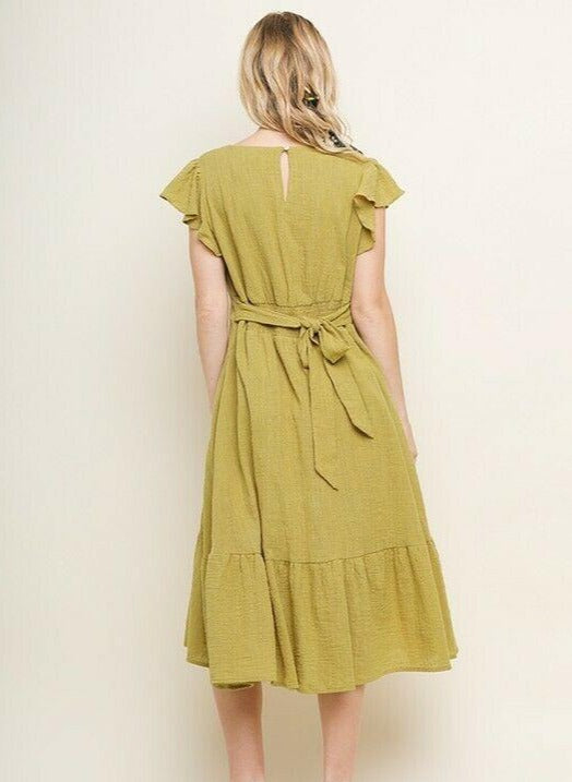 bluheaven Dress in Golden Kiwi