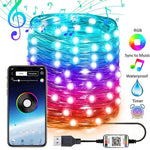 Tira de luces LED USB con app Control Bluetooth