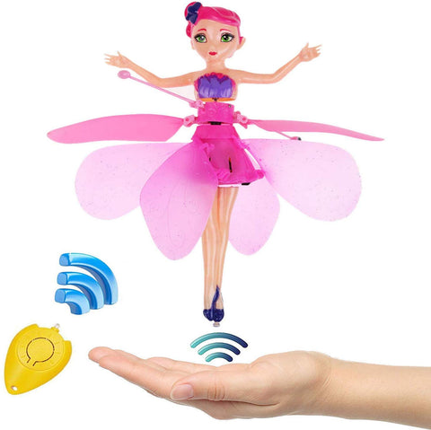 Induction Fairy Magical Princess Dolls infrared Light Suspension Flying doll toys mini RC drone