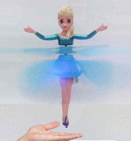 infrared Inductive Frozen Elsa  doll Colorful RC Flying Ball Built-in LED lights