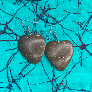 Heart Coconut Shell Earrings