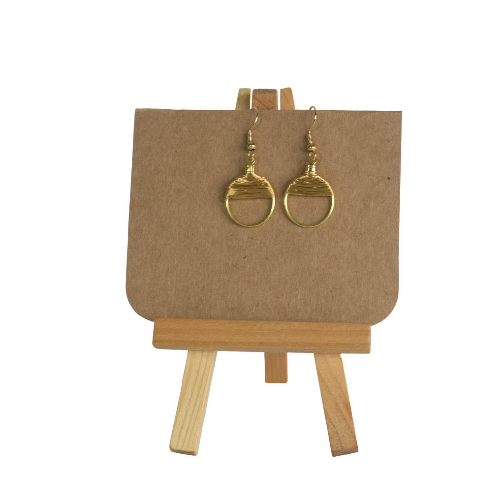 Gold (mini) Wire Earrings