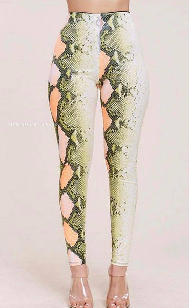 Poisonous Snake Pants (Green)