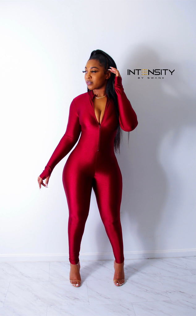 Just Bod Remix Jumpsuit (Red)