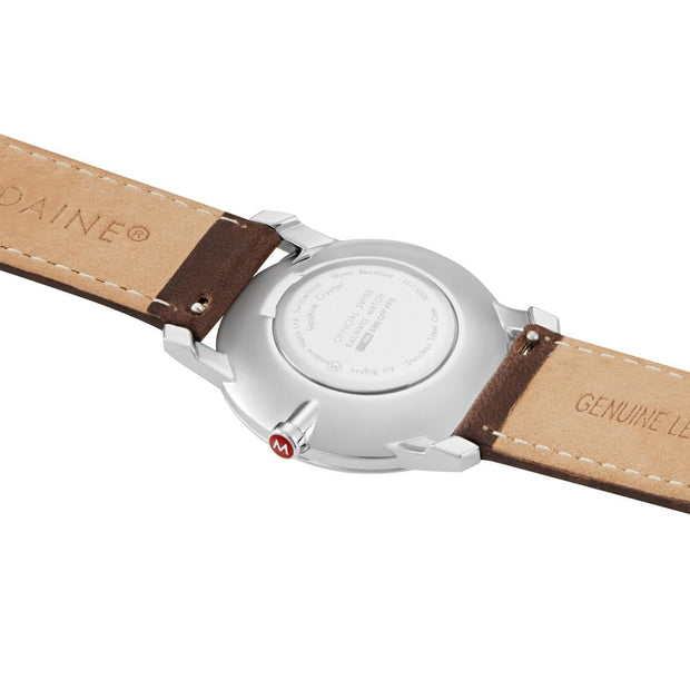 Simply Elegant, 36mm, brown leather watch, A400.30351.11SBG