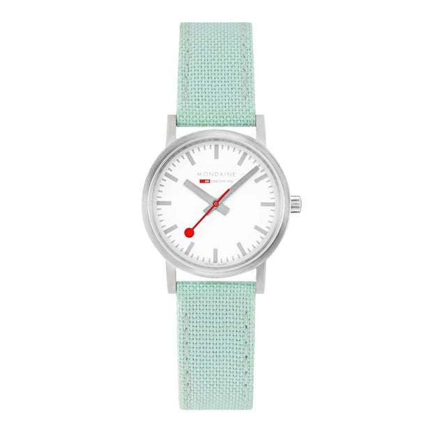 Classic, 30mm, neo-mint green textile watch, A658.30323.17SBQ