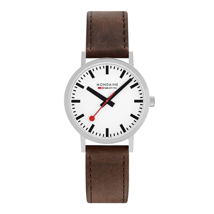 Classic, 40mm, brown leather watch, A660.30360.11SBG