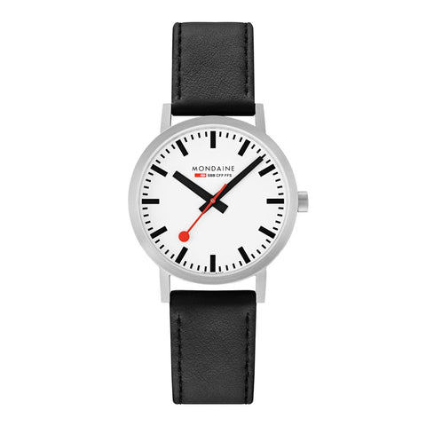 Classic, 40mm, black leather watch, A660.30360.16SBB