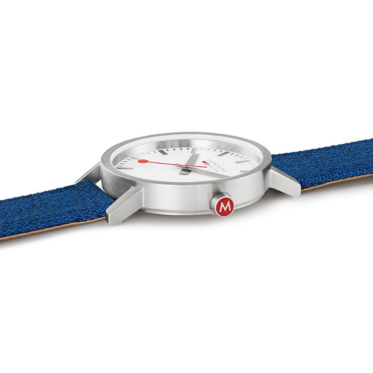 Classic, 40mm, navy-blue textile watch, A660.30360.17SBD