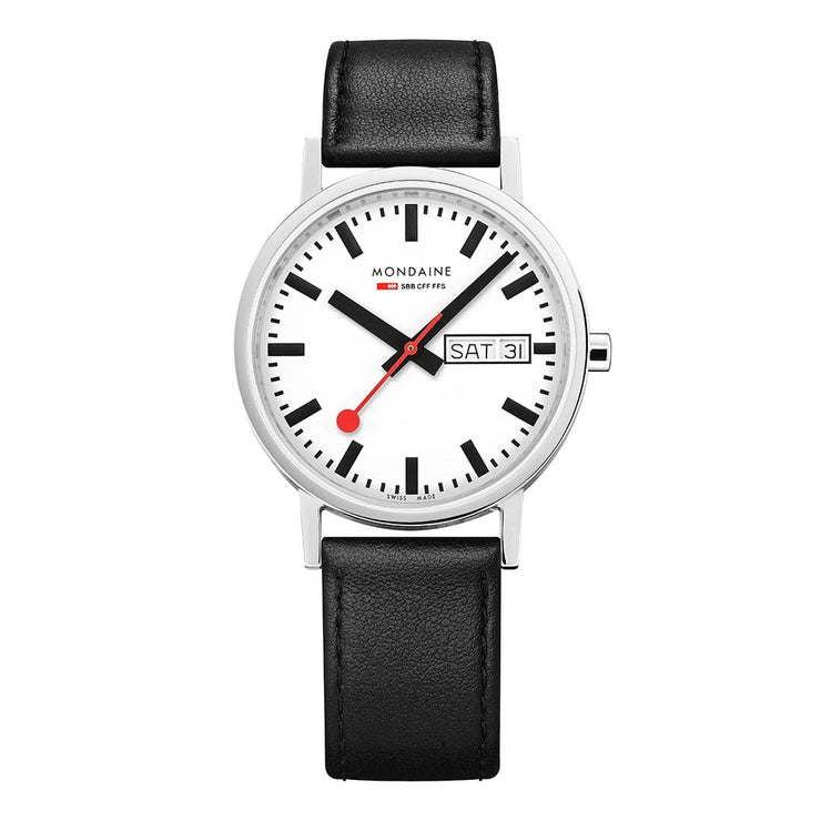 Classic, 36 mm, black leather watch, A667.30314.11SBB