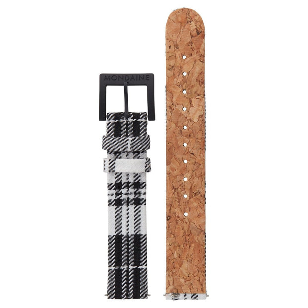 Textile strap with cork lining, 16mm, FTM.3116.20B.K