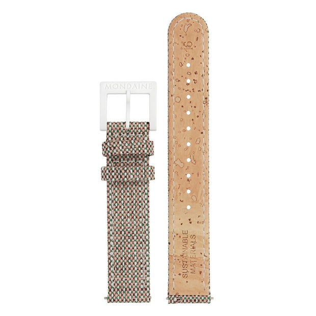 Textile strap with cork lining, 16mm, FTM.3116.70A.K