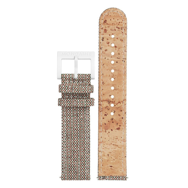 Textile strap with cork lining, 20mm, FTM.3120.70A.K