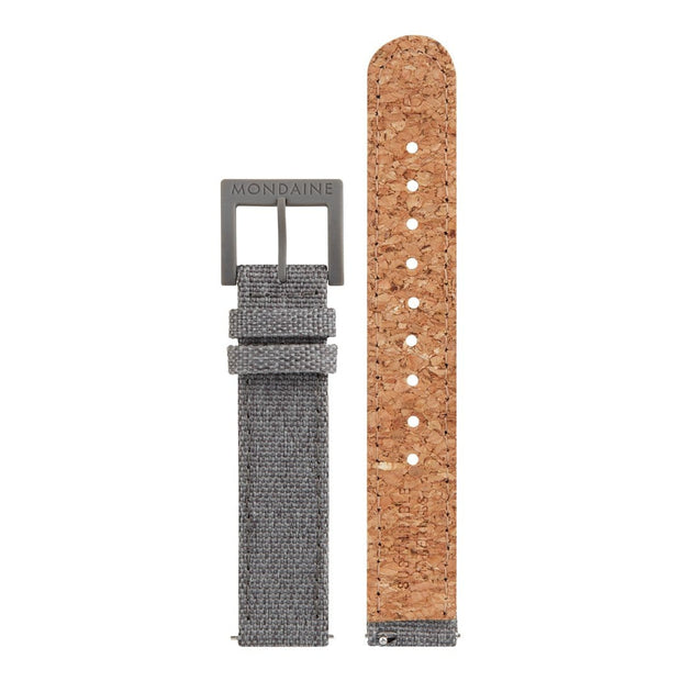 Textile strap with cork lining, 16mm, FTM.3116.80H.K