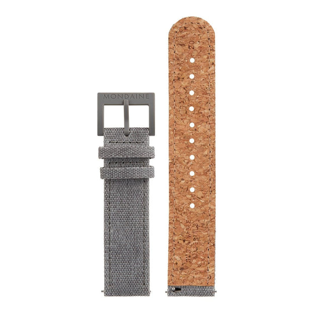Textile strap with cork lining, 20mm, FTM.3120.80H.K