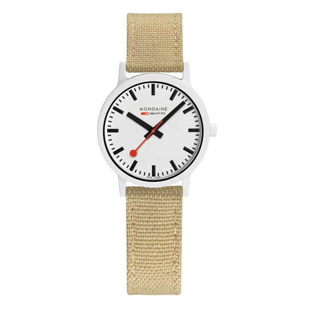 essence white, 32mm, sustainable watch for women, MS1.32110.LS