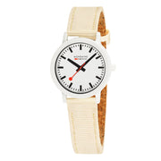 essence white, 32mm, sustainable watch for women, MS1.32111.LT