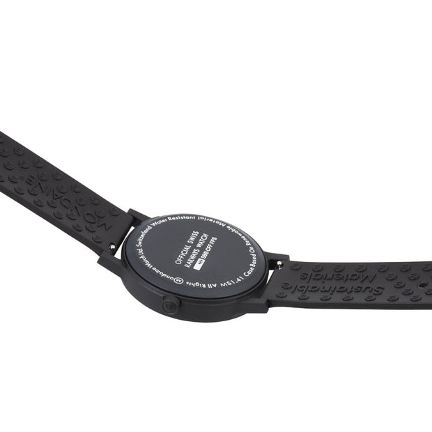 essence black, 41 mm, vegan sustainable watch, MS1.41120.RB