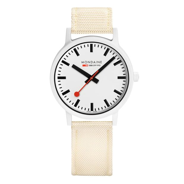 essence white, 41mm, sustainable watch for men and women, MS1.41111.LT