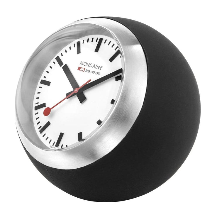 Black table clock, 60 mm, A660.30335.16SBB,1