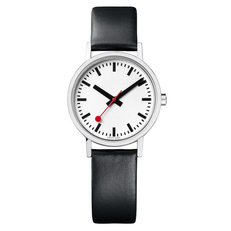 Classic, 30 mm, black leather watch, A658.30323.16OM,4