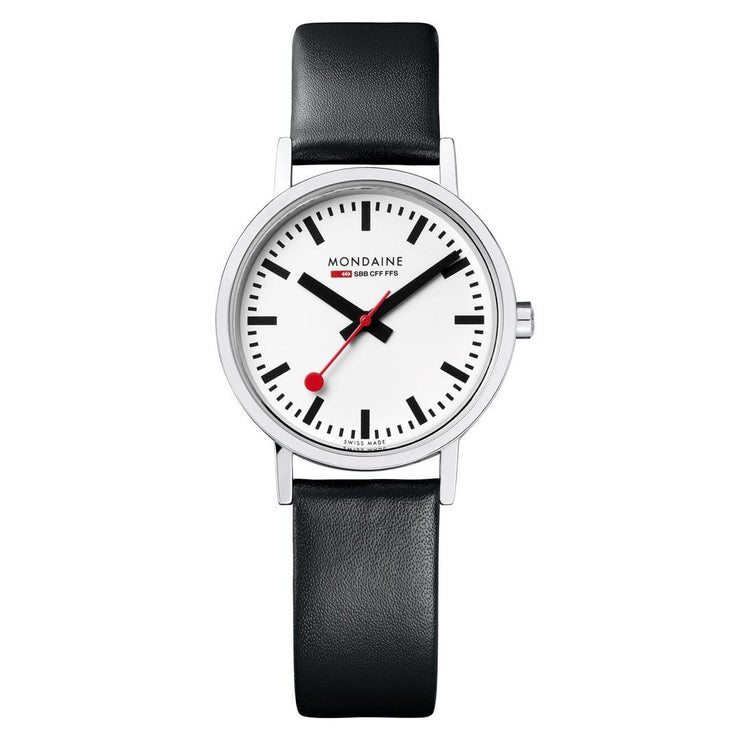 Classic, 30 mm, black leather watch, A658.30323.16SBB,4