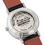 Classic, 33 mm, black leather watch, A128.30008.16SBB,5