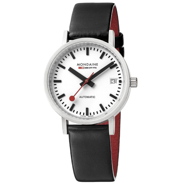 Classic, 33 mm, black leather watch, A128.30008.16SBB