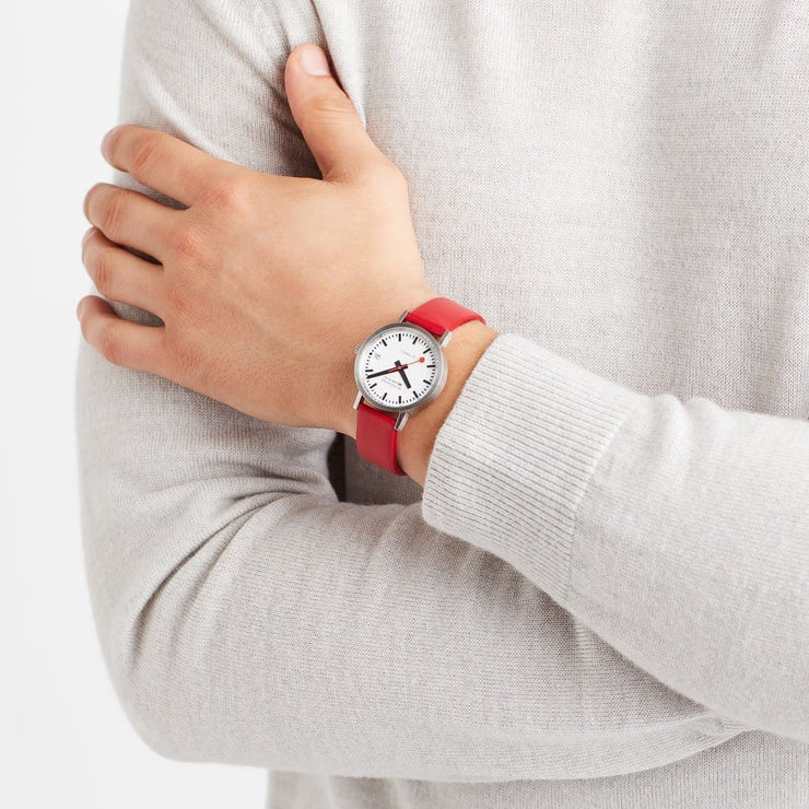 Classic, 33 mm, red leather watch, A128.30008.16SBC,1