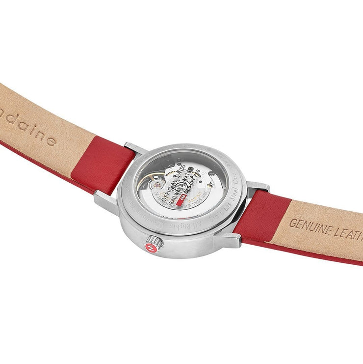 Classic, 33 mm, red leather watch, A128.30008.16SBC,3