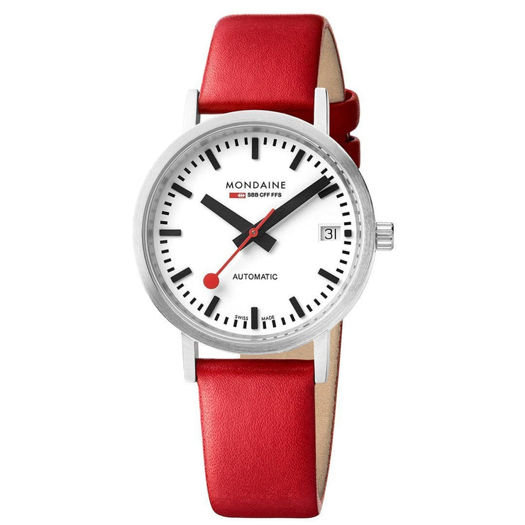 Classic, 33 mm, red leather watch, A128.30008.16SBC