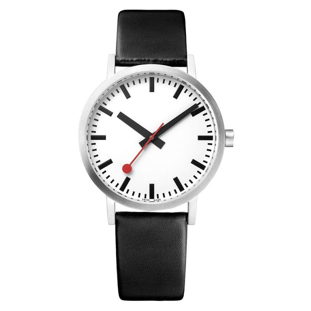 Classic, 36 mm, black leather watch, A660.30314.16OM,5