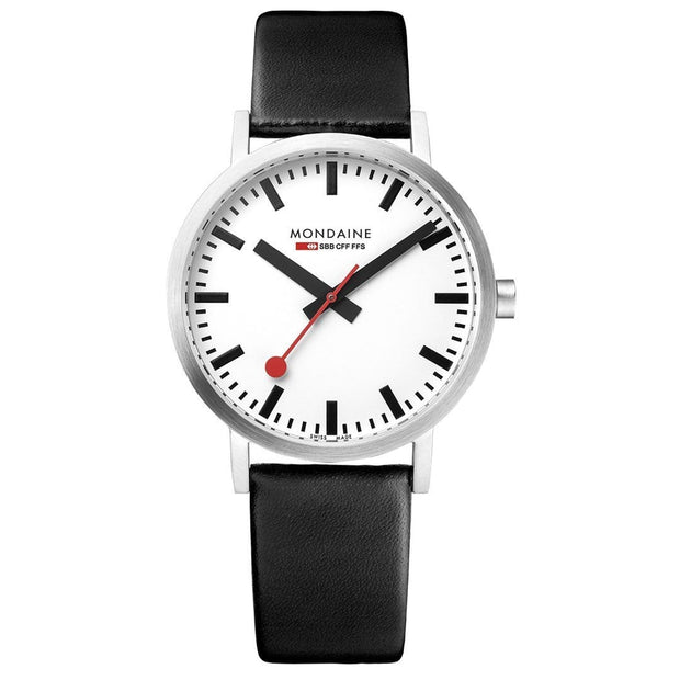 Classic, 36 mm, black leather watch, A660.30314.16SBB,3