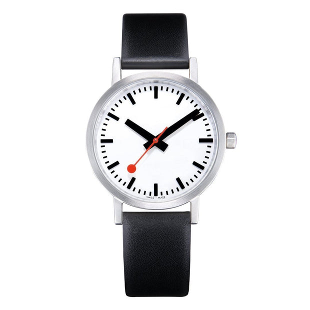 Classic, 40 mm, black leather watch, A660.30360.16OM,4