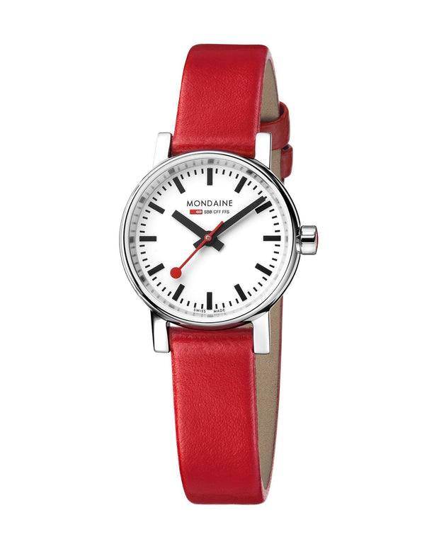 evo2, 26 mm, red leather watch, MSE.26110.LC