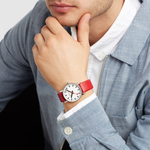 evo2, 35 mm, red leather watch, MSE.35110.LC,2