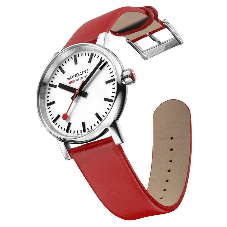 evo2, 35 mm, red leather watch, MSE.35110.LC,5
