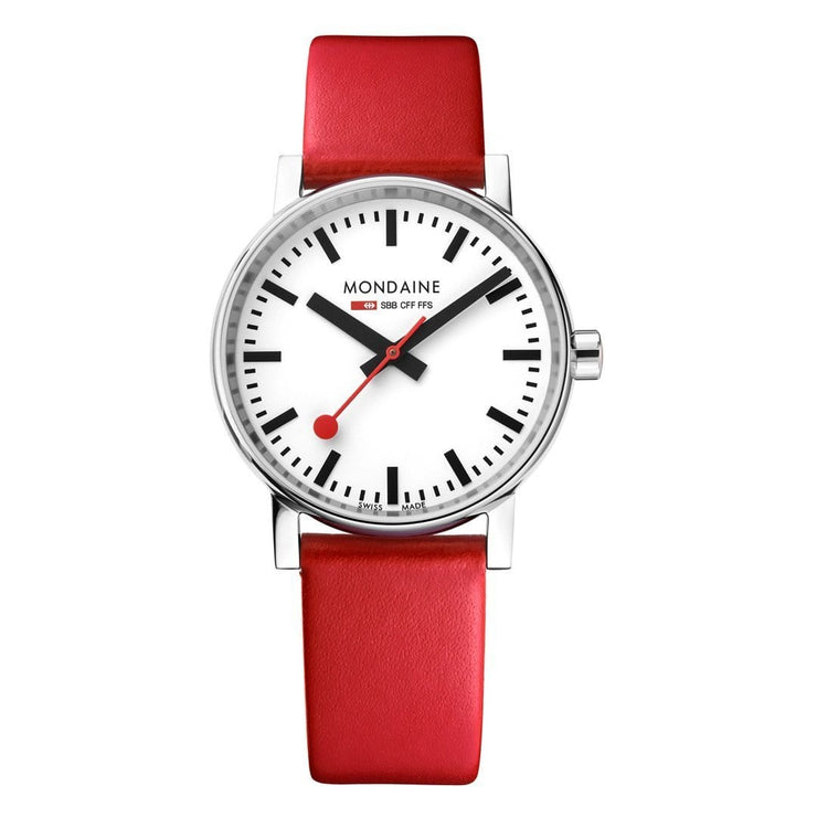 evo2, 35 mm, red leather watch, MSE.35110.LC,6