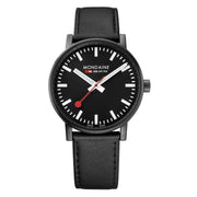 evo2, 40 mm, black leather watch, MSE.40121.LB,1