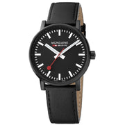 evo2, 40 mm, black leather watch, MSE.40121.LB