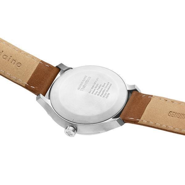 Helvetica Bold, 34 mm, casual leather watch, MH1.B3110.LG,1