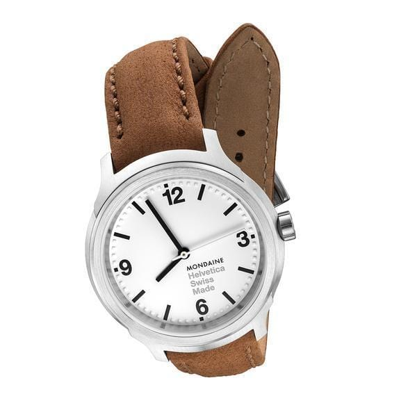Helvetica Bold, 34 mm, casual leather watch, MH1.B3110.LG,2