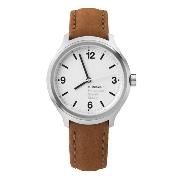 Helvetica Bold, 34 mm, casual leather watch, MH1.B3110.LG,4