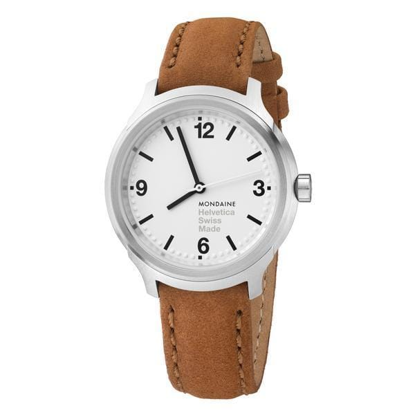 Helvetica Bold, 34 mm, casual leather watch, MH1.B3110.LG