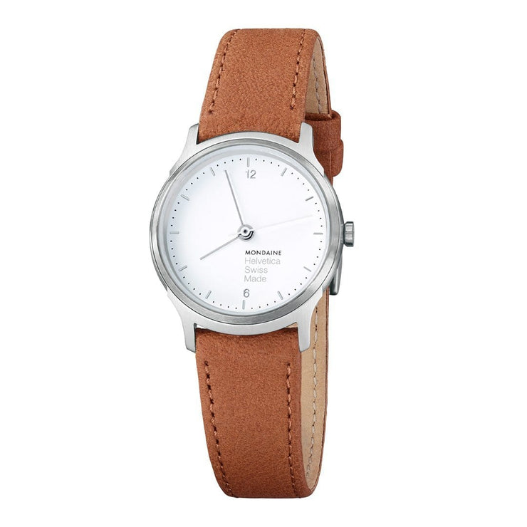 Helvetica Light, 26 mm, minimalist leather watch, MH1.L1110.LG