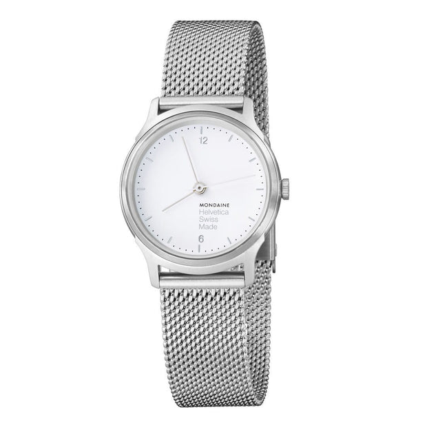 Helvetica Light, 26 mm, minimalist stainless steel watch, MH1.L1110.SM
